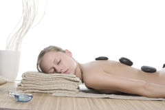 Hot stone massage Stock Photography