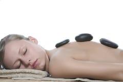 Hot stone massage Royalty Free Stock Photos