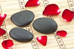 Hot stone massage spa Royalty Free Stock Photos