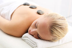 Hot stone massage, Swedish massage Stock Photos