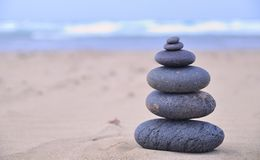 Hot stone therapy. Stock Photos