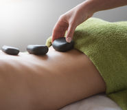 Hot stone therapy Royalty Free Stock Images