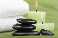 Hot stone treatment (1) Stock Photography