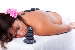 Hot stone treatment Royalty Free Stock Photography