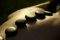 Hot Stone treatment Royalty Free Stock Photo