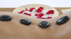 Hot-stone treatment Royalty Free Stock Photography