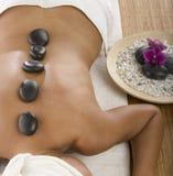 Hot stone treatment Royalty Free Stock Image