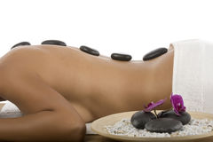 Hot stone treatment Royalty Free Stock Images
