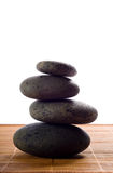 Hot Stones. Stack of hot stones for lastone massage royalty free stock image