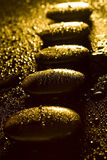 Hot stones, close-up Stock Image