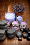 Hot stones and lavender minerals Royalty Free Stock Image
