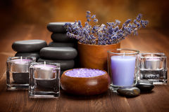 Hot stones and spa minerals Royalty Free Stock Photography