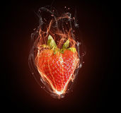 Hot strawberry Stock Photo