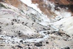 Hot stream around Jigokudani Hell Valley Royalty Free Stock Image