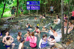 Hot stream waterfall Thailand Stock Images