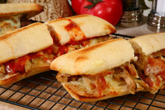 Hot Sub Sandwiches Stock Photos