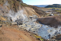 Hot sulfur springs Royalty Free Stock Image