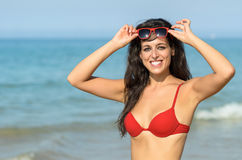 Hot summer in beach Royalty Free Stock Image