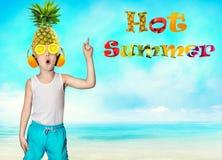 Hot summer. Children`s fantasies. Sweet juicy fruits. Children`s fantasies. Sweet juicy fruits.Hot summer stock photography