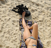 Hot summer day at the beach Royalty Free Stock Photos