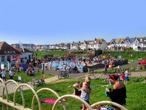Hot Summer Day in Hove Brighton Sussex Royalty Free Stock Images