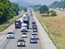Hot Summer Day On The Interstate Royalty Free Stock Photography