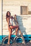 Hot summer fashion woman Royalty Free Stock Photography