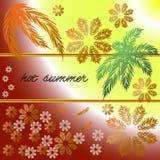 Hot summer frame postcard. Card hot summer frame postcard Royalty Free Stock Image