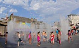 Hot summer fun in London Stock Photo