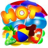 Hot summer 2013 illustration Royalty Free Stock Photography