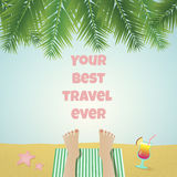Hot summer 3. Nice summer style banner with funny legs Stock Photography