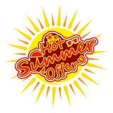 Hot summer offer banner Stock Images