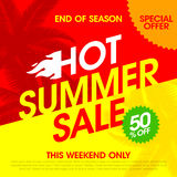 Hot Summer Sale banner Royalty Free Stock Photography