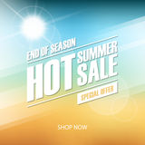 Hot Summer Sale banner. End of season special offer. Banner for business, promotion and advertising. Stock Images