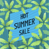 Hot Summer Sale Banner, Poster Or Advertising Slogan. Stock Images