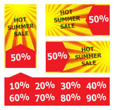 Hot summer sale banner. Sun Royalty Free Stock Images