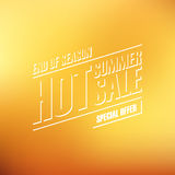 Hot Summer Sale. End of season special offer banner for business, promotion and advertising. Blurred background. Royalty Free Stock Photography