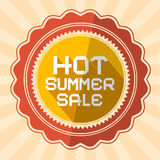 Hot Summer Sale Illustration Stock Photography