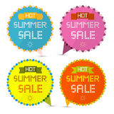 Hot Summer Sale Paper Labels Set Stock Photos
