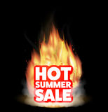 Hot summer sale with a real burning fire. A hot summer sale with a real burning fire Stock Photography