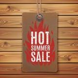 Hot summer sale. Realistic, vintage label Stock Images