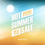 Hot Summer Sale special offer background for business, commerce and advertising. Vector illustration Royalty Free Stock Photography