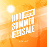 Hot Summer Sale special offer banner for business, promotion and advertising. Royalty Free Stock Photography