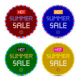 Hot Summer Sale Stickers Set Stock Images