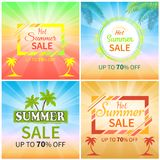 Hot Summer Sale Up to 70 Off Promotional Banners Stock Image