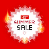 Hot Summer Sale Vector Background Stock Image