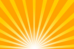 Hot summer sun. Really hot summer sun - illustration Royalty Free Stock Images