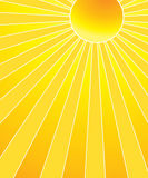 Hot summer sun. The hot summer sun background Royalty Free Stock Photos