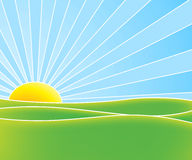 Hot summer sun Royalty Free Stock Photo