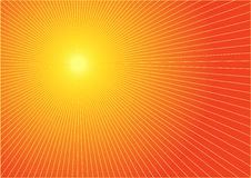 The hot summer sun. Abstract background Stock Image